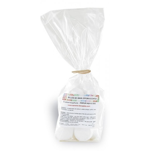 Mini-billes effervescentes  coco - Sachet 15