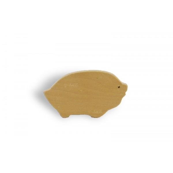 Brosse à ongles en bois - Cochon - Lot de 12