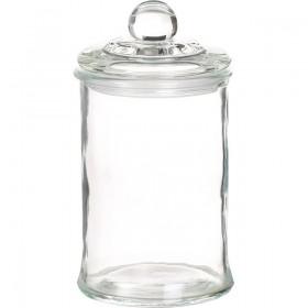 Bocal en verre avec couvercle verre 650mL - Lot 6