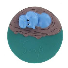 Porte savon flottant hippopotame - Lot de 6