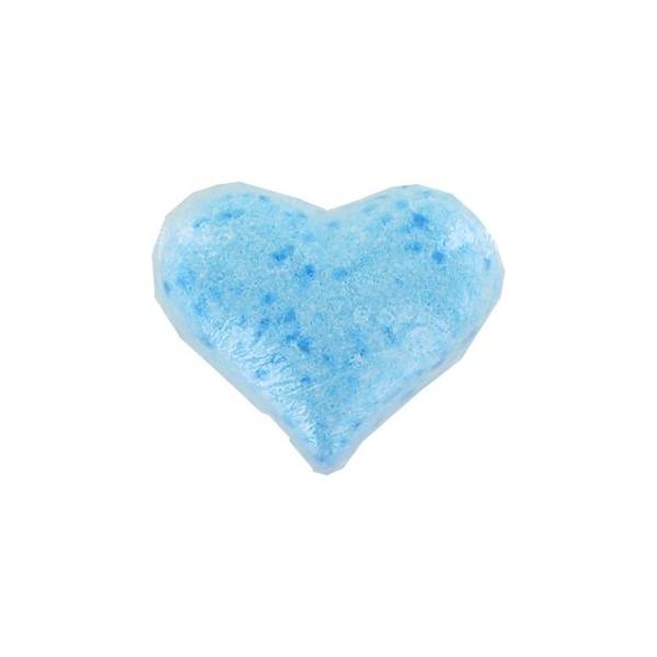 Galet effervescent  CŒUR bleu (marine) - Carton 12
