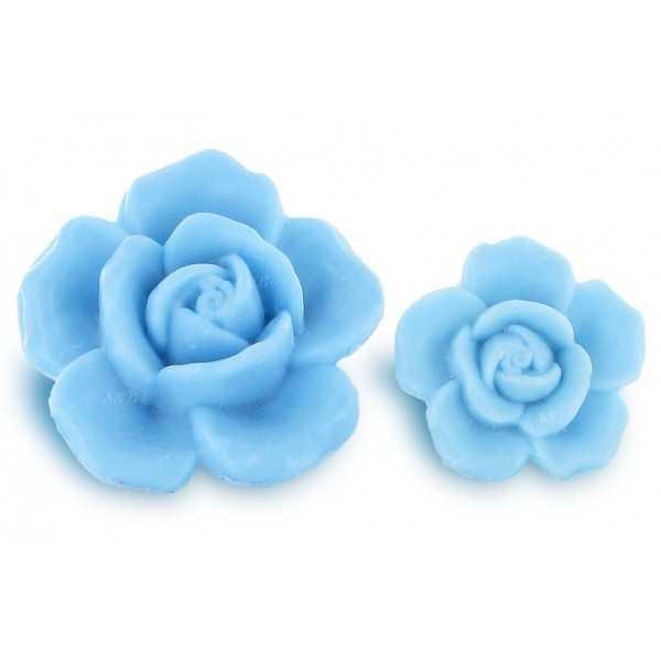 Savons sujets Grande Rose 125g bleu - Carton 40