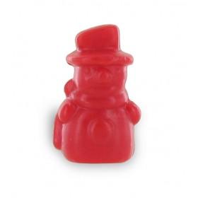 Savon bonhomme de neige rouge - Sachet 10