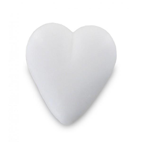 Savon coeur blanc 34g - Carton 600