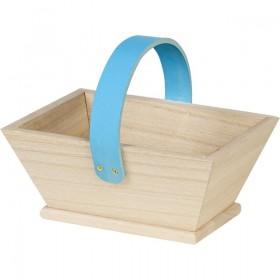 Panier en bois Bleu - Lot 4