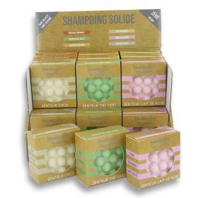 24 shampoings solides avec picots - Découverte 6 parfums + display