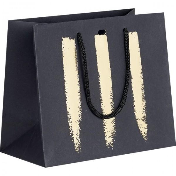 Accessoire Sac papier noir/or - Lot de 12
