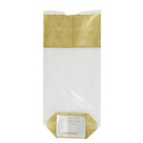 Sachet confiseur fond carton dentelle or - Lot 10