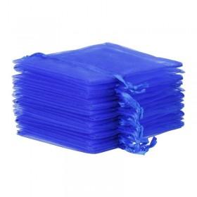 Sac en organza plat bleu roi - Lot 10