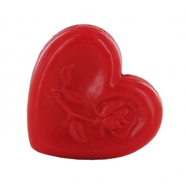 Savon cœur avec rose rouge - Carton 600
