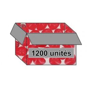 Perle de bain cœur parfum fraise - Carton 1200