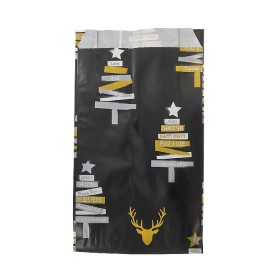 Accessoire Pochettes cadeaux sapin fond noir - Lot 10