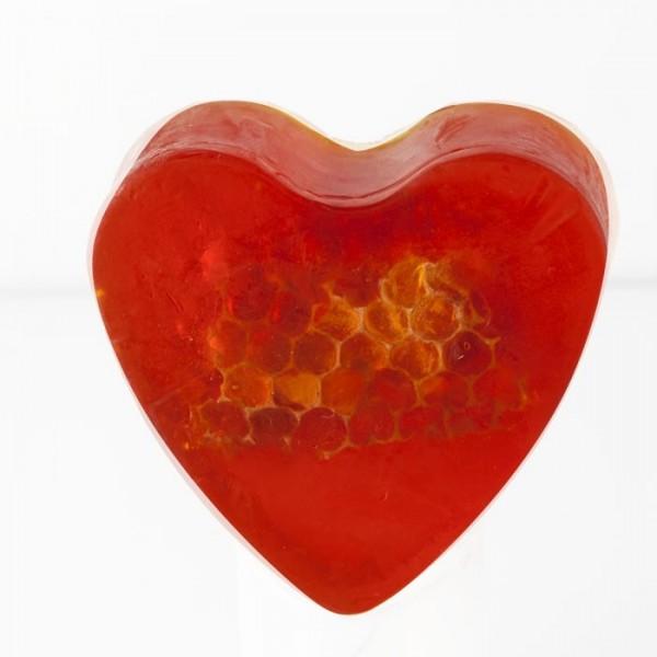 Savon glycérine coeur Miel - Boîte de 8