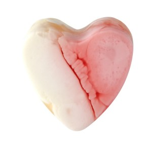 Savon glycérine coeur Framboise - Boîte de 8