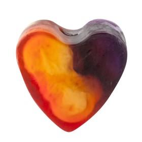 Savon glycérine coeur Passion - Boîte de 8