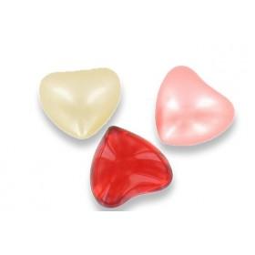 Perle de bain cœur parfum vanille - Sac 50
