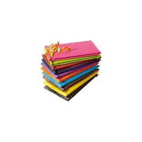 Pochette cadeau kraft unies violet - Lot 250