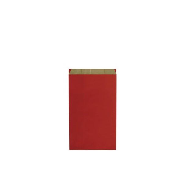Pochette cadeau kraft unies rouge - Lot 10
