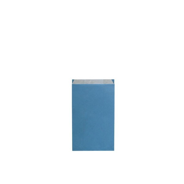 Pochette cadeau kraft unies bleu - Lot 10