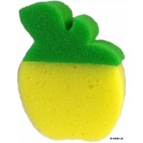 Eponge ludique Pomme jaune - Unité
