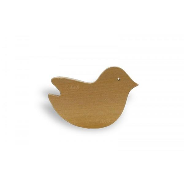 Brosse à ongles en bois - oiseau - Lot de 12