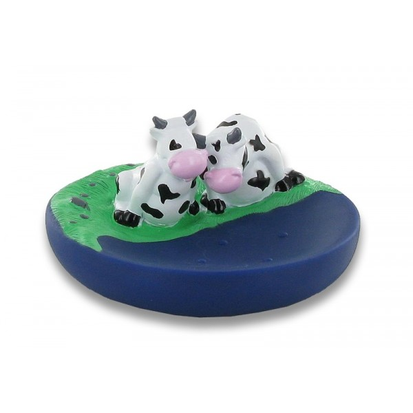 Porte savon flottant duo vaches - Lot de 6