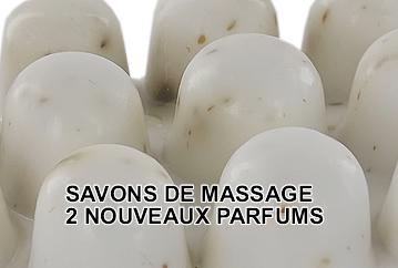 Nouveaux savons de massage